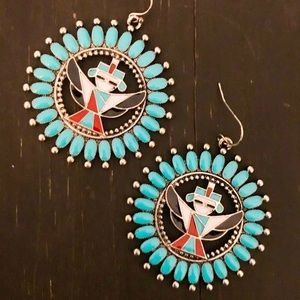 Colorful Turquoise Tribal Earrings